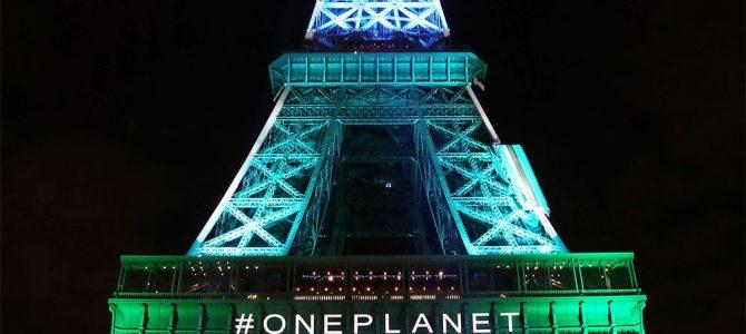 One Planet Summit: Paris illuminée à l'huile végétale!