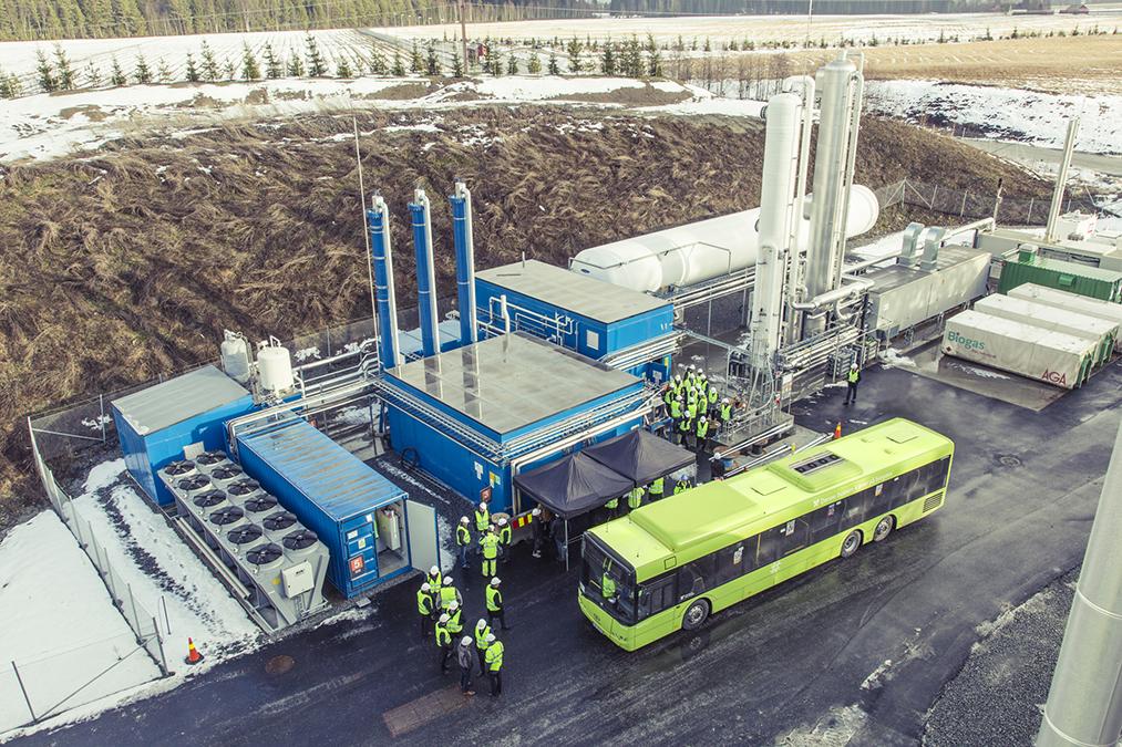 The biomethane plant outside Oslo uses Wärtsilä-Hamworthy liquefaction technology .. Stig Jarnes photo courtesy Wärtsilä
