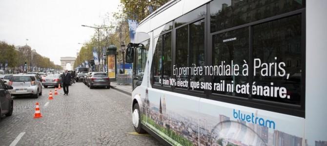 Pour la COP21, Bolloré le groupe emblématique du Finistère nous fait rouler en BlueTram sur les Champs-Elysées (3/3)