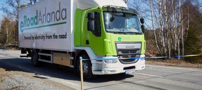 La première route électrifiée inaugurée en Suède